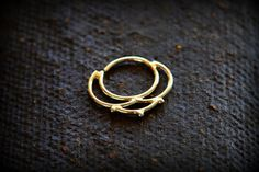 Septum jewelry  Flower inspierd  tribal style  Gold by studiolil, $91.00