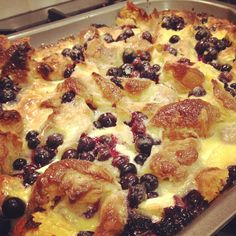 Luxury White Chocolate and Blueberry Bread and Butter Pudding