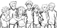 The Seven Halfbloods~ Leo Valdez, Frank Zhang, Hazel Levesque, Percy Jackson, Annabeth Chase, Piper McLean, Jason Grace