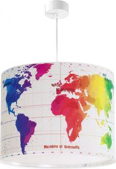 Παγκόσμιος χάρτης εφηβικό φωτιστικό οροφής μεγάλο σε διάσταση και με διαχυτή φωτός Decoration, Kids Bedroom, Ceiling Lights, Lighting, Design, Home Decor, Motifs, Disney, Lights