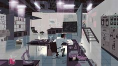 "The Professor's Lab - Backgrounds from the Powerpuff Girls Special ""Dance Pantsed"" -Kevin Dart"