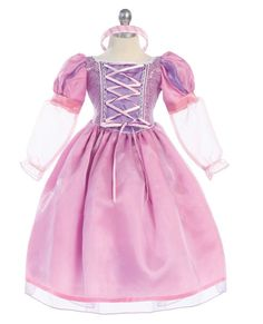 Rapunzel Tangled Costume Princess dress all by Princessonthego Princess Dress Up, Princess Rapunzel, Princess Girl, Princess Party, Dress Up Costumes, Girl Costumes, Costume Ideas, Tangled Costume, Tangled Party