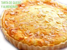 tarta de queso y almendras, rica y fácil Sweet Life, Sin Gluten, Pie Recipes, Pecan, Quiche, Delicious Desserts, Cheesecake, Food And Drink, Bread