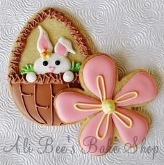 a post full of decorated easter cookies
