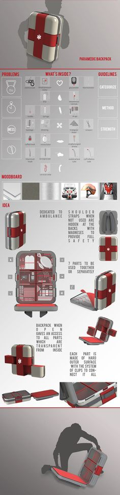 Paramedic backpack on Behance