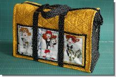 Ausführliche Nähanleitung für eine Reisetasche, 48 x 35 x 23 cm, aus PW-Stoff, 12 Seiten mit 37 Farbfotos.