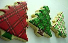 plaid christmas cookies & lots of other great cookie designs.