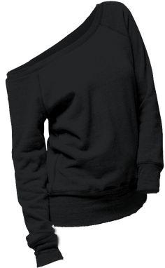 sweater black shirt comfy off the shoulder Pullover schwarzes Hemd bequem von der Schulter Vogue Fashion, Cute Fashion, Look Fashion, Winter Fashion, Fashion Edgy, Petite Fashion, Street Fashion, Spring Fashion, Fashion Design