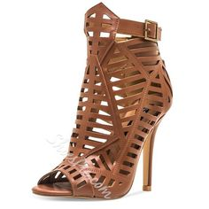 c960d3393b4d Shoespie Caged Cutout Gladiator Sandals Robes À Bas Prix