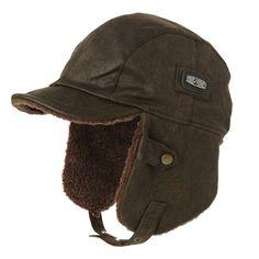 ccca9419482aa Winter Men Bomber Hats Aviator Cap Earflap for Women SIGGI Russian Hat  Windproof Pilot faux Leather Trapper Hunting Unisex 88115-in Bomber Hats  from Men s ...