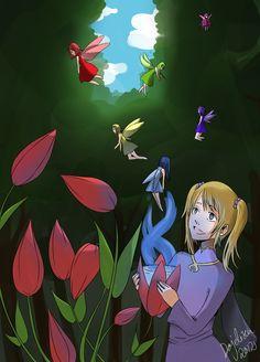 Fairies by Dajelisen.deviantart.com on @deviantART #Illustration #Magic #Fairy #Dajelisen