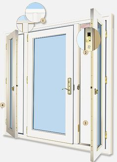 Vented Sidelight Patio Doors Design Features - Neuma Doors - Manufacturer of fiberglass patio doors