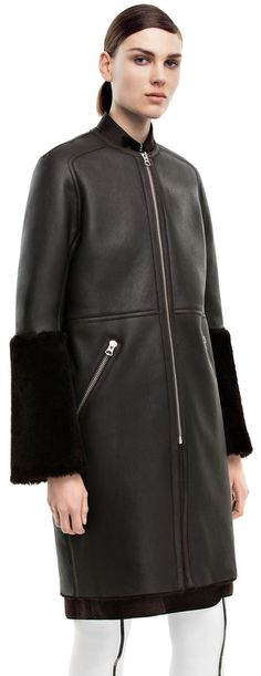 Marcel dark brown lamb shearling coat #AcneStudios #PreFall2014