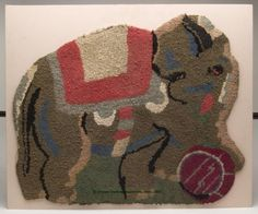 Lot:1070: AMERICAN CIRCUS ELEPHANT HOOKED RUG, shaped form,, Lot Number:1070, Starting Bid:$100, Auctioneer:Green Valley Auctions (Jeffrey S. Evans & Assoc.), Auction:1070: AMERICAN CIRCUS ELEPHANT HOOKED RUG, shaped form,, Date:03:30 AM PT - Nov 10th, 2007