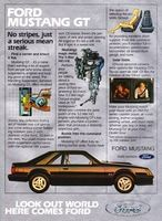 Mustang GT by Ford 1981 Ad Picture