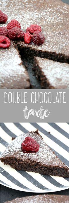 Schokolade Kuchen Tarte Himbeeren backen