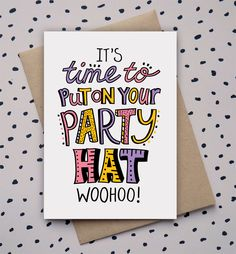 Hand drawn type, doodle, birthday card, party