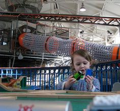 Playing on the island of Sodor! This is the biggest train table I've ever seen, and we played for hours! Thomas and his friends have rolled into station at Port Discovery Children's Museum in Baltimore. You can see them until May 7th, 2017! (dodcwithkids.com) Thomas And His Friends, Toddler Portraits, Baltimore Inner Harbor, Train Table, Children's Museum, May 7th, Washington Dc, Stuff To Do, Discovery