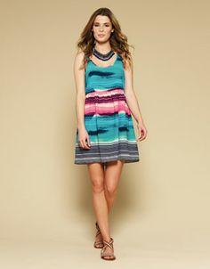Skye Stripe Dress | Multi | Monsoon