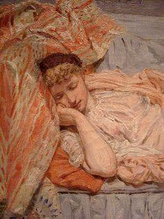 Lilies (detail), 1866, by Albert Joseph Moore (English, 1841-1893)