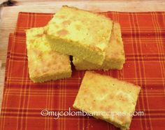 Mantecada (Colombian-Style Butter Corn Bread) Different - heavy on butter, can add a little rum or liquer for flavor. High ratio of corn to flour My Colombian Recipes, Colombian Cuisine, Colombian Desserts, Colombian Bakery, Kitchen Recipes, Baking Recipes, Mexican Food Recipes, Sweet Recipes, Wiggles Cake