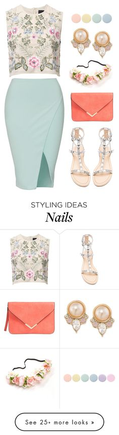 """Candy crush."" by orpitaazmiri on Polyvore featuring Needle & Thread, Rebecca Minkoff, Carolee and Deborah Lippmann"