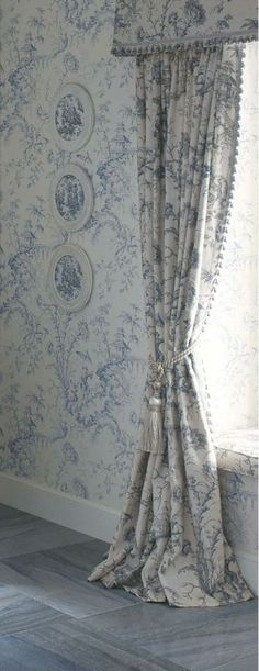 Scalamandre Pillement Toile wallpaper and fabric