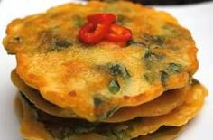 puchingae - korean spinach pancake