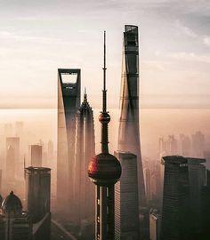 Urban Photography, Street Photography, Nature Photography, Shanghai Tower, Shanghai Skyline, Night Scenery, Cities, City Aesthetic, Futuristic Architecture