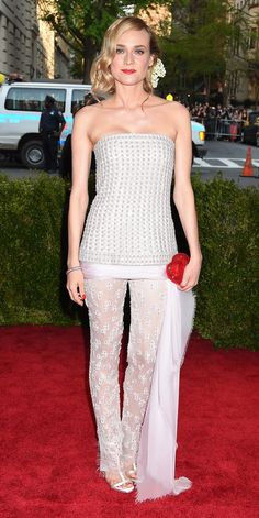 Diane Kruger's Red Carpet Style - In Chanel, 2015 from InStyle.com