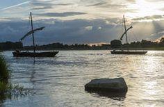 Traditional boats on the Loire River - Pays de la Loire région, France
