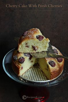 Cherry Cake With Fresh Cherries | Cherry Recipes ~ Sankeerthanam (Reciperoll.com)|Recipes | Cake Decorations | Cup Cakes |Food Photos