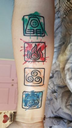 The four elements avatar pinterest the o 39 jays and for Four elements tattoo