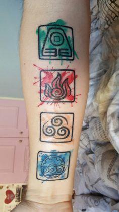 4 elementos avatar tatuajes pinterest avatar. Black Bedroom Furniture Sets. Home Design Ideas