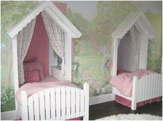 Would love to do this if I had 2 girls that shared a room!  such an awesome idea.