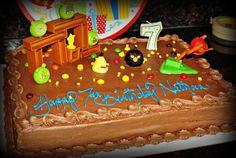 DIY Angry Birds cake decor