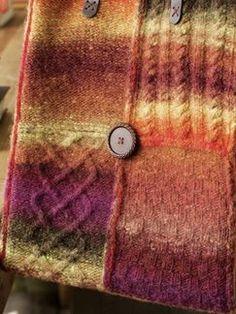 Stitch Sampler Tote in Noro