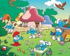 Smurfs cartoon. Loved it. Saturday morning cartoons!