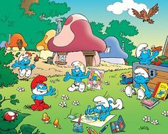 Smurfs cartoon. Loved it. Saturday morning cartoons!