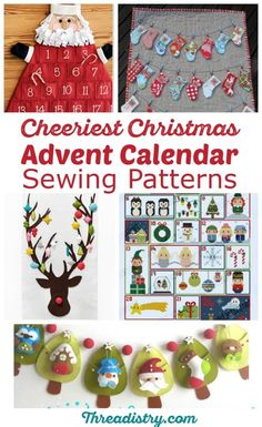 How cute are these Christmas Advent Calendar sewing patterns. I don't know if I should get out the felt or cross-stitch supplies. I'd love to have a DIY advent calendar this year. Time to get sewing!