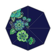 Vibrant Designer Paisley-Print Foldable Windproof Umbrella 2 Colors