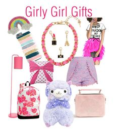 """""""Girly Gifts"""" by pretty-and-practical on Polyvore featuring Betsey Johnson, Capelli New York, PBteen and Skinnydip"""