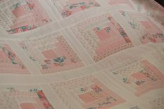 """If you're a fan of my Kindred Spirits fabric line, and you love pink and white, I've designed a quilt for The Fat Quarter Shop that I think you'll love. We're calling it """"Hope Blooms&#…"""