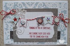 Magical Scrapworld: christmas card Stampin' Up! banner blast