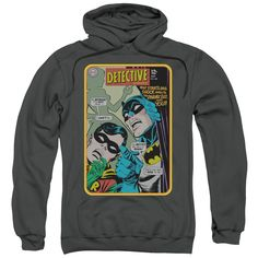 Batman/Detective #380 Adult Charcoal Pull-over Hoodie