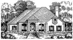 House Plan 77067 | European Plan with 1998 Sq. Ft., 2 Bedrooms, 1.5 Bathrooms, 2 Car Garage