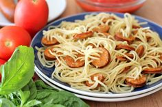 Threaded Spaghetti Hot Dog Bites with Homemade Marinara Sauce - Damn Delicious