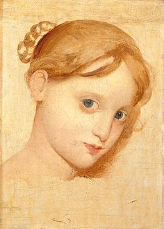 Head of a Girl with Blue Eyes (Sketch), Jean-Auguste-Dominique Ingres c. 1813