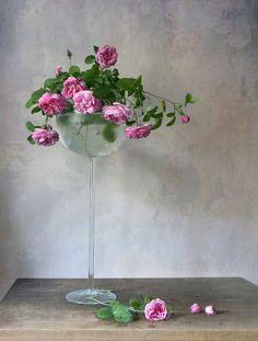фото: ~ Розы в высокой вазе ~ | фотограф: Елена Татульян | WWW.PHOTODOM.COM