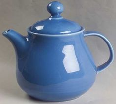 solid color teapots | NANCY CALHOUN Solid Color-True Blue at Replacements, Ltd